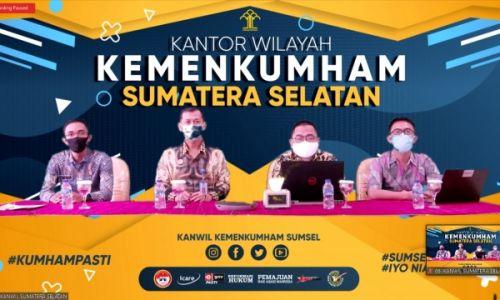 Bersama Pusdatin, Kanwil Kemenkumham Sumsel Gelar Pendampingan Pengelolaan Teknologi Infomrasi